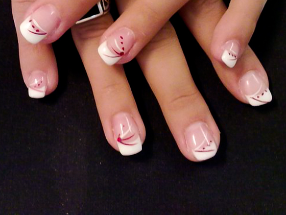 Ongles Decoration Simple : Ongle en gel deco simple